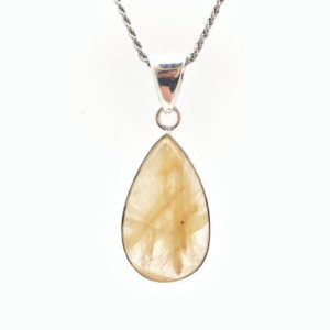Shop Rutilated Quartz Pendants! Rutilated Quartz Pendant //  Teardrop Rutilated Quartz Pendant // Sterling Silver Setting // Quartz Jewelry   Natural genuine Rutilated Quartz pendants. Buy crystal jewelry, handmade handcrafted artisan jewelry for women.  Unique handmade gift ideas. #jewelry #beadedpendants #beadedjewelry #gift #shopping #handmadejewelry #fashion #style #product #pendants #affiliate #ad