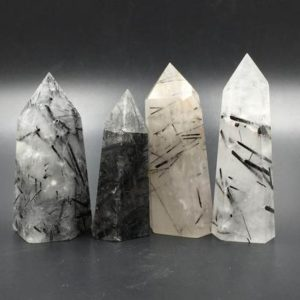 Black Rutilated Quartz Crystal Tower Point Crystal Obelisk Standing Point Meditation Tool Healing Reiki Crystal Grid Supply Generator Decor | Natural genuine stones & crystals in various shapes & sizes. Buy raw cut, tumbled, or polished gemstones for making jewelry or crystal healing energy vibration raising reiki stones. #crystals #gemstones #crystalhealing #crystalsandgemstones #energyhealing #affiliate #ad