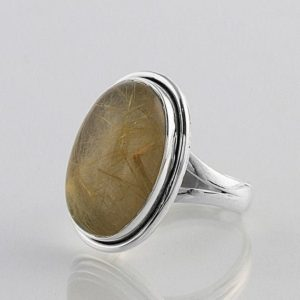 Shop Rutilated Quartz Rings! Golden Rutile Silver Ring, Rutilated Quartz, Silver Jewelry, Rutile Jewelry, Boho, Dainty, Statement Ring, Casual Wear, Christmas Ring, Sale | Natural genuine Rutilated Quartz rings, simple unique handcrafted gemstone rings. #rings #jewelry #shopping #gift #handmade #fashion #style #affiliate #ad