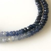 3.5mm To 4mm Shaded Natural Blue Sapphire Faceted Rondelle Beads Sapphire Jewelry Sapphire Necklace Sold As 16 Inch & 8 Inch Strand Gds1702 | Natural genuine Gemstone jewelry. Buy crystal jewelry, handmade handcrafted artisan jewelry for women.  Unique handmade gift ideas. #jewelry #beadedjewelry #beadedjewelry #gift #shopping #handmadejewelry #fashion #style #product #jewelry #affiliate #ad