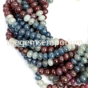 Shop Sapphire Rondelle Beads! Multi Sapphire Plain Rondelle Shape Beads, Multi Corundum Smooth Rondelle Beads, Natural Multi Color Sapphire Plain Rondelle Beads | Natural genuine rondelle Sapphire beads for beading and jewelry making.  #jewelry #beads #beadedjewelry #diyjewelry #jewelrymaking #beadstore #beading #affiliate #ad