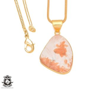 Shop Scolecite Pendants! Scolecite 24K Gold Plated Pendant 3MM Italian Snake Chain GPH401 | Natural genuine Scolecite pendants. Buy crystal jewelry, handmade handcrafted artisan jewelry for women.  Unique handmade gift ideas. #jewelry #beadedpendants #beadedjewelry #gift #shopping #handmadejewelry #fashion #style #product #pendants #affiliate #ad