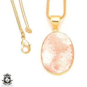 Shop Scolecite Pendants! Scolecite 24K Gold Plated Pendant 3MM Italian Snake Chain GPH402 | Natural genuine Scolecite pendants. Buy crystal jewelry, handmade handcrafted artisan jewelry for women.  Unique handmade gift ideas. #jewelry #beadedpendants #beadedjewelry #gift #shopping #handmadejewelry #fashion #style #product #pendants #affiliate #ad