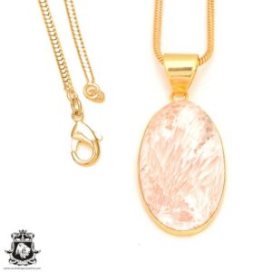 Shop Scolecite Pendants! Scolecite 24k Gold Plated Pendant 3mm Italian Snake Chain Gph403 | Natural genuine Scolecite pendants. Buy crystal jewelry, handmade handcrafted artisan jewelry for women.  Unique handmade gift ideas. #jewelry #beadedpendants #beadedjewelry #gift #shopping #handmadejewelry #fashion #style #product #pendants #affiliate #ad