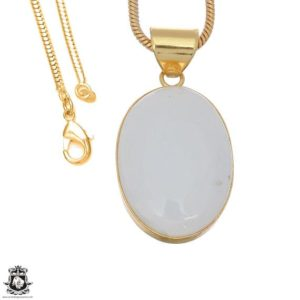 Shop Scolecite Pendants! White Scolecite 24k Gold Plated Pendant 3mm Italian Snake Chain Gph1648 | Natural genuine Scolecite pendants. Buy crystal jewelry, handmade handcrafted artisan jewelry for women.  Unique handmade gift ideas. #jewelry #beadedpendants #beadedjewelry #gift #shopping #handmadejewelry #fashion #style #product #pendants #affiliate #ad
