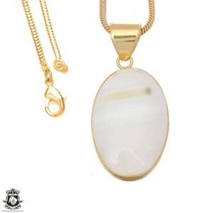 Shop Scolecite Pendants! White Scolecite 24k Gold Plated Pendant 3mm Italian Snake Chain Gph1644 | Natural genuine Scolecite pendants. Buy crystal jewelry, handmade handcrafted artisan jewelry for women.  Unique handmade gift ideas. #jewelry #beadedpendants #beadedjewelry #gift #shopping #handmadejewelry #fashion #style #product #pendants #affiliate #ad