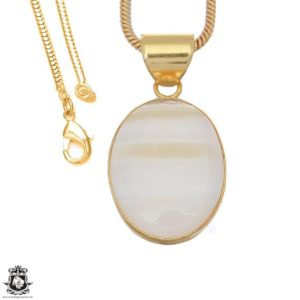 Shop Scolecite Pendants! White Scolecite 24k Gold Plated Pendant 3mm Italian Snake Chain Gph1653 | Natural genuine Scolecite pendants. Buy crystal jewelry, handmade handcrafted artisan jewelry for women.  Unique handmade gift ideas. #jewelry #beadedpendants #beadedjewelry #gift #shopping #handmadejewelry #fashion #style #product #pendants #affiliate #ad