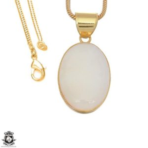 Shop Scolecite Pendants! White Scolecite 24k Gold Plated Pendant 3mm Italian Snake Chain Gph1649 | Natural genuine Scolecite pendants. Buy crystal jewelry, handmade handcrafted artisan jewelry for women.  Unique handmade gift ideas. #jewelry #beadedpendants #beadedjewelry #gift #shopping #handmadejewelry #fashion #style #product #pendants #affiliate #ad