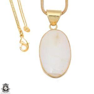 Shop Scolecite Pendants! White Scolecite 24k Gold Plated Pendant 3mm Italian Snake Chain Gph1646 | Natural genuine Scolecite pendants. Buy crystal jewelry, handmade handcrafted artisan jewelry for women.  Unique handmade gift ideas. #jewelry #beadedpendants #beadedjewelry #gift #shopping #handmadejewelry #fashion #style #product #pendants #affiliate #ad