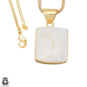Shop Scolecite Pendants! White Scolecite 24k Gold Plated Pendant 3mm Italian Snake Chain Gph1647 | Natural genuine Scolecite pendants. Buy crystal jewelry, handmade handcrafted artisan jewelry for women.  Unique handmade gift ideas. #jewelry #beadedpendants #beadedjewelry #gift #shopping #handmadejewelry #fashion #style #product #pendants #affiliate #ad