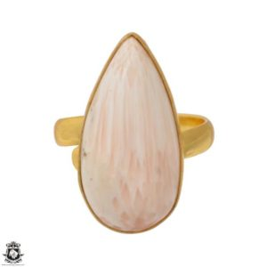 Shop Scolecite Rings! Size 8.5 – Size 10 Adjustable Scolecite 24K Gold Plated Ring GPR1567   Natural genuine Scolecite rings, simple unique handcrafted gemstone rings. #rings #jewelry #shopping #gift #handmade #fashion #style #affiliate #ad