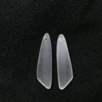 Natural White Selenite Wing-shaped 12x45mm Gemstone Genuine Freeshape Pendant —1 Pair(2pcs) | Natural genuine Gemstone jewelry. Buy crystal jewelry, handmade handcrafted artisan jewelry for women.  Unique handmade gift ideas. #jewelry #beadedjewelry #beadedjewelry #gift #shopping #handmadejewelry #fashion #style #product #jewelry #affiliate #ad