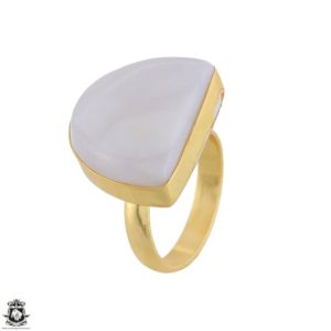 Shop Selenite Rings! Size 9.5 – Size 11 Adjustable Selenite 24K Gold Plated Ring GPR1742 | Natural genuine Selenite rings, simple unique handcrafted gemstone rings. #rings #jewelry #shopping #gift #handmade #fashion #style #affiliate #ad