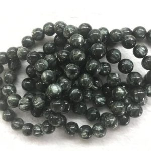 Shop Seraphinite Bracelets! Genuine Seraphinite 12mm – 14mm Round Natural Green Gemstone Beads Grade AA Finished Jewerly Bracelet Supply – 1piece | Natural genuine Seraphinite bracelets. Buy crystal jewelry, handmade handcrafted artisan jewelry for women.  Unique handmade gift ideas. #jewelry #beadedbracelets #beadedjewelry #gift #shopping #handmadejewelry #fashion #style #product #bracelets #affiliate #ad