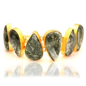 Shop Seraphinite Bracelets! Seraphinite Gold Plated Bracelet Gb51 | Natural genuine Seraphinite bracelets. Buy crystal jewelry, handmade handcrafted artisan jewelry for women.  Unique handmade gift ideas. #jewelry #beadedbracelets #beadedjewelry #gift #shopping #handmadejewelry #fashion #style #product #bracelets #affiliate #ad