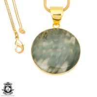 Serpentine 24k Gold Plated Pendant 3mm Italian Snake Chain Gph1424 | Natural genuine Gemstone jewelry. Buy crystal jewelry, handmade handcrafted artisan jewelry for women.  Unique handmade gift ideas. #jewelry #beadedjewelry #beadedjewelry #gift #shopping #handmadejewelry #fashion #style #product #jewelry #affiliate #ad