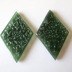 1 Piece Beautiful Hand Carved Green Serpentine Gemstone Carving, Filigree Finding, Natural Serpentine 57x36mm, SKU-Tc70 | Natural genuine stones & crystals in various shapes & sizes. Buy raw cut, tumbled, or polished gemstones for making jewelry or crystal healing energy vibration raising reiki stones. #crystals #gemstones #crystalhealing #crystalsandgemstones #energyhealing #affiliate #ad