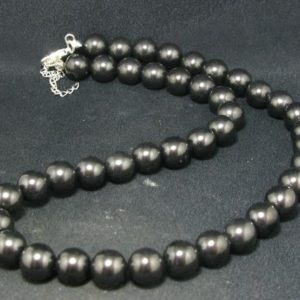 """Shop Shungite Necklaces! Shungite Necklace with 10mm Round Beads From Russia – 18"""" 