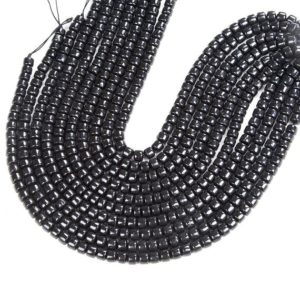 Shop Shungite Beads! Natural Smooth Shungite Gemstone Grade AAA Cylinder Wheel Tube 8x5MM 12x8MM Loose Beads (D46) | Natural genuine other-shape Shungite beads for beading and jewelry making.  #jewelry #beads #beadedjewelry #diyjewelry #jewelrymaking #beadstore #beading #affiliate #ad