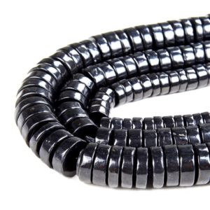 Shop Shungite Beads! Natural Smooth Shungite Gemstone Grade AAA Heishi Rondelle Slice 6x3MM 8x3MM 10x3MM Loose Beads (D46) | Natural genuine rondelle Shungite beads for beading and jewelry making.  #jewelry #beads #beadedjewelry #diyjewelry #jewelrymaking #beadstore #beading #affiliate #ad
