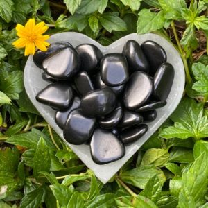 Shop Shungite Stones & Crystals! Shungite Tumbled Stone, Shungite Tumble Stone, Crystal Healing, Polished, Pocket Stones | Natural genuine stones & crystals in various shapes & sizes. Buy raw cut, tumbled, or polished gemstones for making jewelry or crystal healing energy vibration raising reiki stones. #crystals #gemstones #crystalhealing #crystalsandgemstones #energyhealing #affiliate #ad