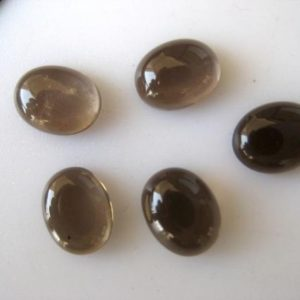 Shop Smoky Quartz Cabochons! 10 Pieces 9x7mm Each Natural Smoky Quartz Oval Shaped Flat Back Smooth Loose Cabochons Bb296 | Natural genuine stones & crystals in various shapes & sizes. Buy raw cut, tumbled, or polished gemstones for making jewelry or crystal healing energy vibration raising reiki stones. #crystals #gemstones #crystalhealing #crystalsandgemstones #energyhealing #affiliate #ad
