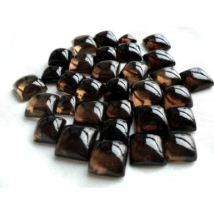 Shop Smoky Quartz Cabochons! 20 Pieces 10mm Each Smoky Quartz Square Shaped Smooth Brown Color Loose Cabochons Sku-gfjp | Natural genuine stones & crystals in various shapes & sizes. Buy raw cut, tumbled, or polished gemstones for making jewelry or crystal healing energy vibration raising reiki stones. #crystals #gemstones #crystalhealing #crystalsandgemstones #energyhealing #affiliate #ad