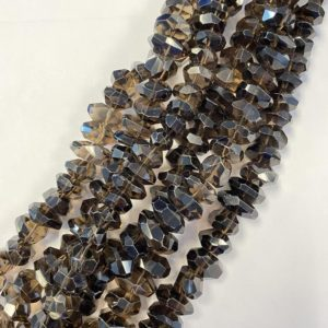 Shop Smoky Quartz Chip & Nugget Beads! Smoky Quartz 15x11x9mm Faceted Nugget Gemstone beads — 7.5 inch strand 1 strand /3 strands | Natural genuine chip Smoky Quartz beads for beading and jewelry making.  #jewelry #beads #beadedjewelry #diyjewelry #jewelrymaking #beadstore #beading #affiliate #ad