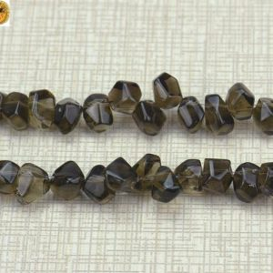 Shop Smoky Quartz Chip & Nugget Beads! Crystal Quartz,15 inch full strand Smoky Quartz faceted nugget beads,top drilled beads,8x10mm 10x14mm 12x16mm 15x20mm for Choice | Natural genuine chip Smoky Quartz beads for beading and jewelry making.  #jewelry #beads #beadedjewelry #diyjewelry #jewelrymaking #beadstore #beading #affiliate #ad