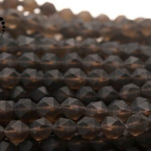 """Shop Smoky Quartz Chip & Nugget Beads! Smoky Quartz Faceted Nugget Star Cut Beads,Diamond cut bead,Nugget beads,natural,gemstone,Crystal Quartz,6mm 8mm 10mm 12mm,15"""" full strand 