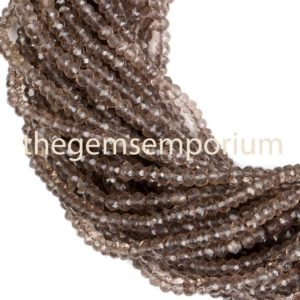 Shop Smoky Quartz Faceted Beads! Smoky Quartz Faceted Rondelle Beads, Smoky Quartz Rondelle Beads, Smoky Quartz Faceted Beads, Smoky Quartz Beads | Natural genuine faceted Smoky Quartz beads for beading and jewelry making.  #jewelry #beads #beadedjewelry #diyjewelry #jewelrymaking #beadstore #beading #affiliate #ad