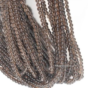 Shop Smoky Quartz Round Beads! 3mm Champagne Smoky Quartz Gemstone Grade AA Round 3mm Loose Beads 16 inch Full Strand (90113606-107 – 3mm D) | Natural genuine round Smoky Quartz beads for beading and jewelry making.  #jewelry #beads #beadedjewelry #diyjewelry #jewelrymaking #beadstore #beading #affiliate #ad