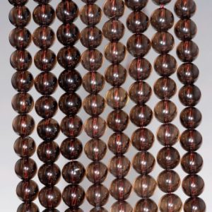 Shop Smoky Quartz Round Beads! 4MM Natural Smoky Quartz Gemstone Grade AAA Round Loose Beads 15.5 inch Full Strand (80003798-B94) | Natural genuine round Smoky Quartz beads for beading and jewelry making.  #jewelry #beads #beadedjewelry #diyjewelry #jewelrymaking #beadstore #beading #affiliate #ad