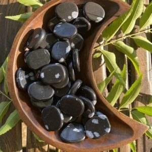 Shop Snowflake Obsidian Shapes! Snowflake Obsidian, Snowflake Obsidian Coin, Qty. 1 | Natural genuine stones & crystals in various shapes & sizes. Buy raw cut, tumbled, or polished gemstones for making jewelry or crystal healing energy vibration raising reiki stones. #crystals #gemstones #crystalhealing #crystalsandgemstones #energyhealing #affiliate #ad