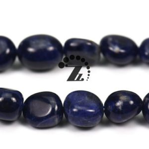 "Shop Sodalite Chip & Nugget Beads! Sodalite pebble chips beads,pebble nugget beads,chips,blue Sodalite,natural,gemstone,diy beads,5-8mm 8-10mm for choice,15"" full strand 