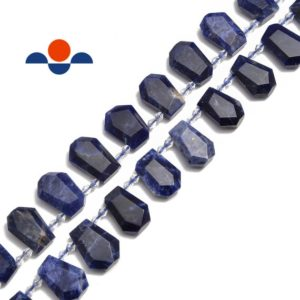"""Shop Sodalite Faceted Beads! Sodalite Faceted Trapezoid Shape Beads Size Approx 15-20mm 15.5"""" Strand 