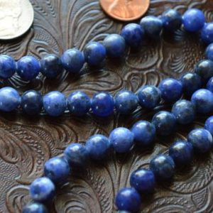 Shop Sodalite Necklaces! 108 Blue Aaa Sodalite Mala Beads Necklace Crystal Healing, Sodalite Crystal, Blue White Sodalite, Reiki Stone, Karma Nirvana Meditation Bead | Natural genuine Sodalite necklaces. Buy crystal jewelry, handmade handcrafted artisan jewelry for women.  Unique handmade gift ideas. #jewelry #beadednecklaces #beadedjewelry #gift #shopping #handmadejewelry #fashion #style #product #necklaces #affiliate #ad