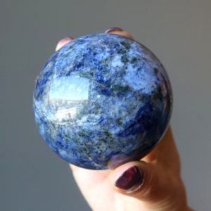 Shop Sodalite Shapes! Sodalite Sphere, Magic Blue Meditation Crystal Ball | Natural genuine stones & crystals in various shapes & sizes. Buy raw cut, tumbled, or polished gemstones for making jewelry or crystal healing energy vibration raising reiki stones. #crystals #gemstones #crystalhealing #crystalsandgemstones #energyhealing #affiliate #ad