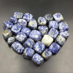 Shop Tumbled Sodalite Crystals & Pocket Stones! Sodalite Tumbled Stone Blue Sodalite Crystal Tumbled Healing Gemtone Mineral Specimen Reiki Meditation Chakra Altar CD-TS | Natural genuine stones & crystals in various shapes & sizes. Buy raw cut, tumbled, or polished gemstones for making jewelry or crystal healing energy vibration raising reiki stones. #crystals #gemstones #crystalhealing #crystalsandgemstones #energyhealing #affiliate #ad