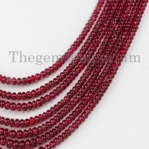 Shop Spinel Necklaces! AAA Quality Natural Unheated Burma Red Spinel Smooth Rondelle Necklace, Spinel Rondelle Necklace, Gemstone Necklace, Rondelle Necklace, Gift | Natural genuine Spinel necklaces. Buy crystal jewelry, handmade handcrafted artisan jewelry for women.  Unique handmade gift ideas. #jewelry #beadednecklaces #beadedjewelry #gift #shopping #handmadejewelry #fashion #style #product #necklaces #affiliate #ad