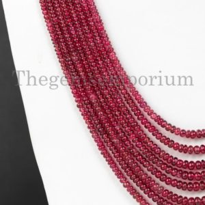 Shop Spinel Necklaces! Unheated Burma Red Spinel Rondelle Necklace, Rondelle Necklace, Natural Burma Spinel Smooth Necklace, Spinel Beads, Spinel Necklace, Jewelry   Natural genuine Spinel necklaces. Buy crystal jewelry, handmade handcrafted artisan jewelry for women.  Unique handmade gift ideas. #jewelry #beadednecklaces #beadedjewelry #gift #shopping #handmadejewelry #fashion #style #product #necklaces #affiliate #ad