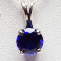 Blue Spinel Pendant, 8mm 2.25ct Round Gemstone, Set In 925 Sterling Silver Ornate Pendant Mount, 18inch Chain Included   Natural genuine Gemstone jewelry. Buy crystal jewelry, handmade handcrafted artisan jewelry for women.  Unique handmade gift ideas. #jewelry #beadedjewelry #beadedjewelry #gift #shopping #handmadejewelry #fashion #style #product #jewelry #affiliate #ad