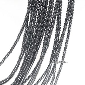 Shop Spinel Beads! 2mm Blackjack Black Spinel Gemstone Round 2mm Loose Beads 16 inch Full Strand (90113424-107 – 2mm C) | Natural genuine beads Spinel beads for beading and jewelry making.  #jewelry #beads #beadedjewelry #diyjewelry #jewelrymaking #beadstore #beading #affiliate #ad