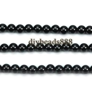 Shop Spinel Round Beads! Black Spinel,15 inch full strand Black Spinel smooth round beads 3mm | Natural genuine round Spinel beads for beading and jewelry making.  #jewelry #beads #beadedjewelry #diyjewelry #jewelrymaking #beadstore #beading #affiliate #ad