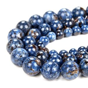 Shop Spinel Round Beads! Rare Natural  Scorzalite Spinel With Muscovite in Pegmatite Cobalt Blue Gemstone AAA Round 6MM 7MM 8MM 9MM 10MM 11MM Beads (D60) | Natural genuine round Spinel beads for beading and jewelry making.  #jewelry #beads #beadedjewelry #diyjewelry #jewelrymaking #beadstore #beading #affiliate #ad