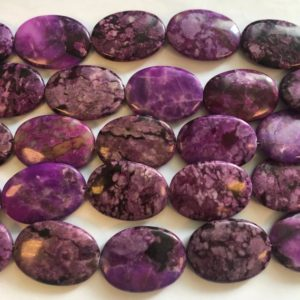 Shop Sugilite Beads! Sugilite 20x15x5mm 18x13x5mm 35x25x7mm Flat Oval Gemstone Beads-~ -15.5 Inch | Natural genuine other-shape Sugilite beads for beading and jewelry making.  #jewelry #beads #beadedjewelry #diyjewelry #jewelrymaking #beadstore #beading #affiliate #ad