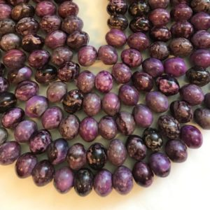 Shop Sugilite Beads! Sugilite 16x12mm Rondelle Gemstone Bead–15.5 inch strand | Natural genuine rondelle Sugilite beads for beading and jewelry making.  #jewelry #beads #beadedjewelry #diyjewelry #jewelrymaking #beadstore #beading #affiliate #ad