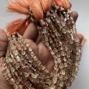 Shop Sunstone Chip & Nugget Beads! AAA++ Beast Quality Oregon Sunstone Faceted Nugget Beads, Oregon Sunstone Nugget Shape Gemstone Beads, Top And Rare Oregon Sunstone Beads | Natural genuine chip Sunstone beads for beading and jewelry making.  #jewelry #beads #beadedjewelry #diyjewelry #jewelrymaking #beadstore #beading #affiliate #ad