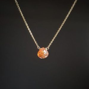 Sunstone Necklace in 14k Gold Filled or Sterling Silver / Handmade Jewelry / Sunstone Pendant, Crystal Healing, Dainty Delicate Layered Boho | Natural genuine Gemstone pendants. Buy crystal jewelry, handmade handcrafted artisan jewelry for women.  Unique handmade gift ideas. #jewelry #beadedpendants #beadedjewelry #gift #shopping #handmadejewelry #fashion #style #product #pendants #affiliate #ad