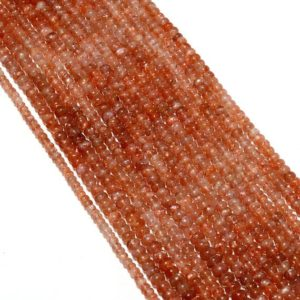 Shop Sunstone Rondelle Beads! 5 Strands Wholesale Sunstone Beads, Smooth Rondelle Beads, 6mm Beads, 13 Inches Each | Natural genuine rondelle Sunstone beads for beading and jewelry making.  #jewelry #beads #beadedjewelry #diyjewelry #jewelrymaking #beadstore #beading #affiliate #ad